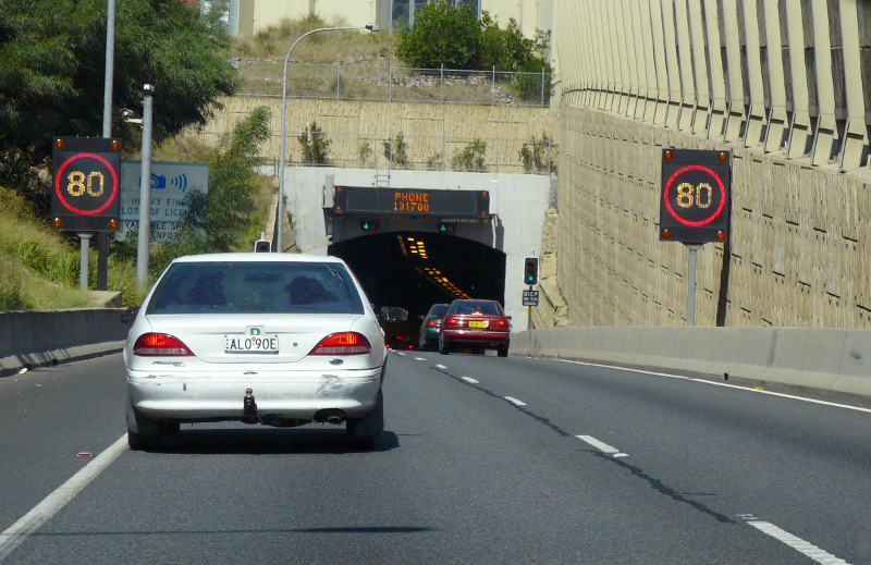 M5-East tunnel entrance, Sydney