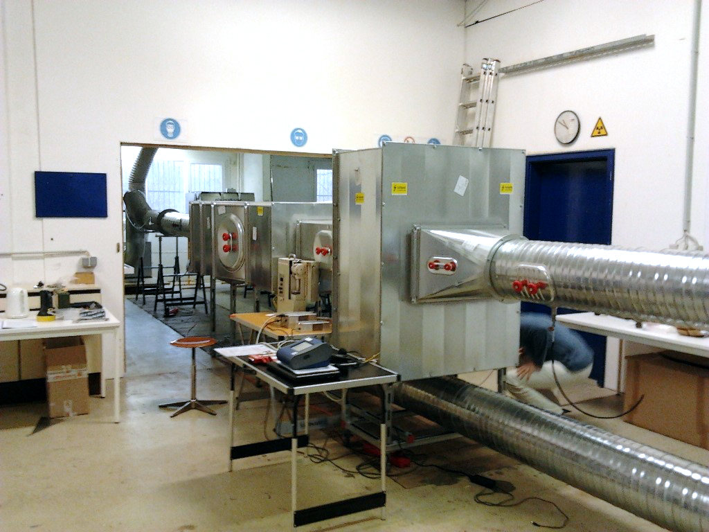 Test bench for testing of ESP modules up to 5000 m³/h